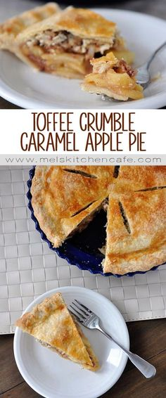 Toffee Crumble Caramel Apple Pie