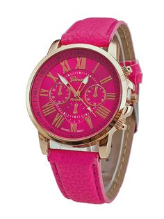 Coloured Candy – Geneva Roze Horloge