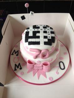 Crossword 70th Birthday Cake