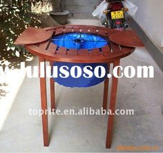 wooden patio cooler table