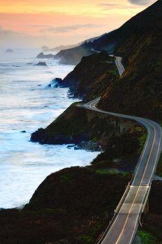 "wonderous-world: "" Route 1, Big Sur Coastline, California, USA by Jeff Swanson """