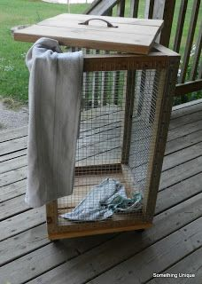Crafty in Canada: Scrap Wood and Chicken Wire Laundry Basket