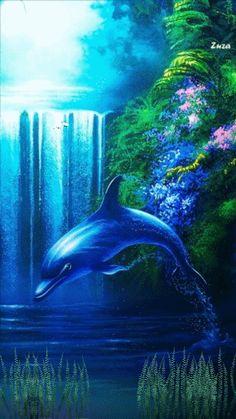 Animation 002 by Dolphin Images, Dolphin Photos, Dolphin Art, Shark Art, Orcas, Life Under The Sea, Bottlenose Dolphin, Fish Wallpaper, Beautiful Fantasy Art