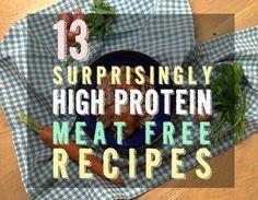 13 Surprisingly High-Protein Vegetarian Recipes | Easy Healthy Ideas, Life hacks & Simple DIY