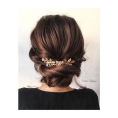 Inspiracja od Sabrina Dijkman, romantic wedding hairstyle #romantic #wedding #hairstyle #brownhair #bello #beautiful #inspiration…