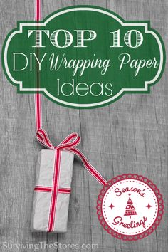 Make your own unique wrapping paper yourself this year!  Here are the top 10 DIY ideas that are frugal and super cute too!
