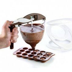 Dosador de Chocolate - Funnel Choc - [Assista ao vídeo]