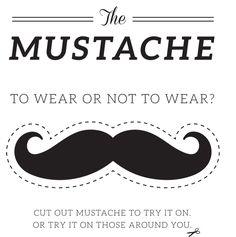 Resultado de imagen de free printable moustache