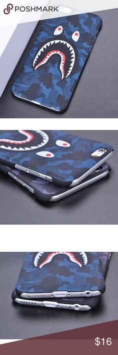 iPhone 7 Case Thin hard plastic case. A fun blue and black camo supreme design! Fits the iPhone 7 phone (NOT THE PLUS). Accessories Phone Cases