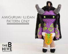 Amigurumi Crochet pattern for Illidan Stormrage, from World of Warcraft!