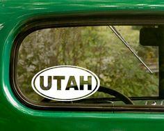 USA State Of Utah Map Vinyl Window Laptop Car Decal Bumper Sticker - Custom vinyl decals utah