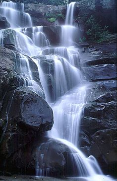 Ramsey Cascades Waterfall   Over 100 ft drop of waterfall into a pool where the 4 mile strenuous hike ends. Eight miles total... Totally worth the climb!!  Love Great Smokey Mountains. Gorgeous hike!!