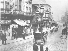 MCL/3/2 Black and white photograph showing Bridge Street, St.Helens 1887. MCL - Clare Collection 3 - Black and white photographs and drawings of St.Helens