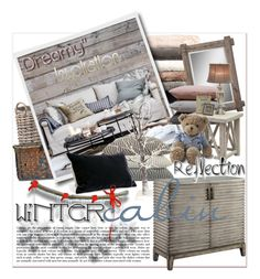 """""""Winter Cabin"""" by betiboop8 ❤ liked on Polyvore featuring interior, interiors, interior design, home, home decor, interior decorating, Garden Trading, Nordstrom, Eichholtz and Hawkins"""