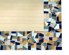 Blue Mosaic Wall Mirror Made to Order by GreenStreetMosaics