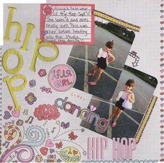 Fancy Pants Dancing Girls paper. Chipboard lettering. Cute, cute, cute