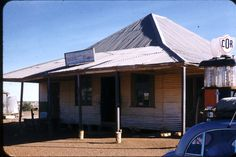 Cammoweal General Store 1958. Note the stumps holding up verandah posts. Plenty of termites in the area!