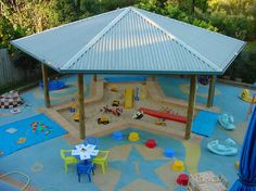 Awesome play area! Perhaps on a smaller scale for the back yard?