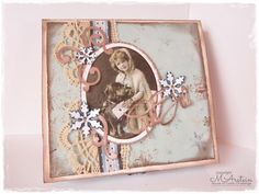 Merethes Kreative Boble House Of Cards, Mix Media, Vintage World Maps, Frame, How To Make, Scrapbooking, Home Decor, Creative, Decoration Home
