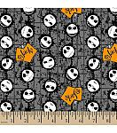 "Halloween Cotton Fabric 43""-Jack Head Toss"