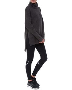 Cosy, warm and oversized, the Shakti Knit is everything you look for in a winter coverup. Crafted in soft insulating luxury fabric, the chunky ribbed knit and roll neck creates a slouchy relaxed shape. The longer length design is beautiful layered over leggings for post-workout and beyond.
