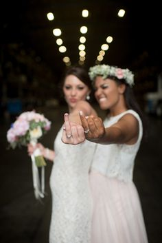 Alyssa & Megan's Coastal Celebration - 2 Brides 2 Be