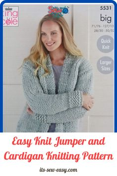 There's something irresistible about chunky jumpers and cardigans. Wearing one is like being in a warm and loving hug with no end. They are a must-have and a great challenge to intermediary knitters. Experienced ones will have an easier time completing the sweater. These easy to make jumpers and cardigans are not only warm and great way to keep the cold weather at bay but also deadly cute. #cardiganpatterns#knittedcardiganpattern#knittingpatterns#easyknitting#knittingathome#easycardiganpatterns Jumper Patterns, Cardigan Pattern, Knitting Patterns, Sewing Patterns, Quick Knits, Wrap Cardigan, Cardigans, Sweaters, Chunky Yarn