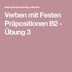 Verben mit Festen Präpositionen B2 - Übung 3