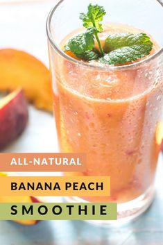This delicious banana peach smoothie is a nutritious and delicious way to kick off your morning. With ginger, beats and cucumbers, it's super healthy too! Healthy Breakfast Smoothies, Yummy Smoothies, Yummy Drinks, Peach Banana Smoothie, Peach Smoothie Recipes, Pomegranate Smoothie, Ginger Smoothie, Post Workout Smoothie, Fresh Lime Juice