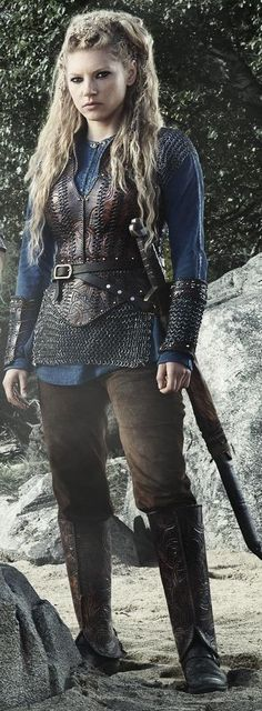 I like the light armor look. Vikings Series. Agertha.