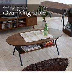 Série Vintage table ovale du salon 1