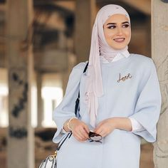 Style Inspiration// looks elegant in this pastel look opt for pale colours this spring summer. Islamic Fashion, Muslim Fashion, Modest Fashion, Unique Fashion, Hijab Fashion, Cool Outfits, Summer Outfits, Hijab Chic, Mode Hijab