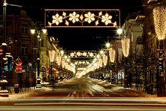 Gediminas Avenue in Vilnius, Lithuania. Photo