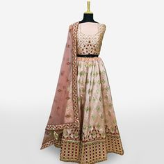 Buy Beautiful Peach Colored Partywear Embroidered Mulberry Silk Lehenga Choli at Rs. Get latest Lehengas for womens at Peachmode. Lehenga Collection, Silk Lehenga, Mulberry Silk, Peach Colors, India, Blouse, Stuff To Buy, Beautiful, Dresses