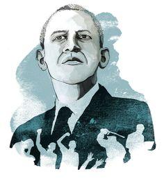 Illustration for Amnesty Magazine by Eeva Meltio. My Works, Obama, Magazine, Comics, Illustration, Art, Art Background, Kunst, Magazines