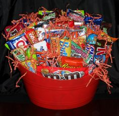 71 Plus Tax Delivery LgCandy Snack Gift Basket Balloons And More