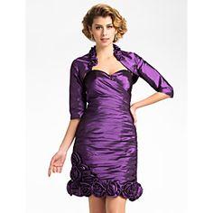 Nice Half Sleeve Taffeta Evening/Wedding Wrap/Jacket (More Colors)