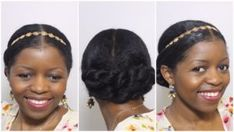 Elegant Twisted Bun Updo for a Formal Occasion (Curly Nikki) Cute Hairstyles Updos, Natural Wedding Hairstyles, Wedding Guest Hairstyles, Natural Hair Updo, Natural Hair Journey, Natural Hair Care, Black Women Hairstyles, Natural Hair Styles, Heatless Hairstyles