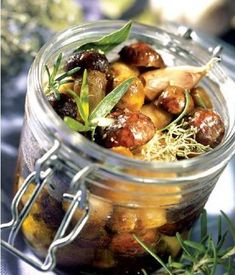 Smag på verden: Syltede champignoner - Μανιταρια μαρινατα