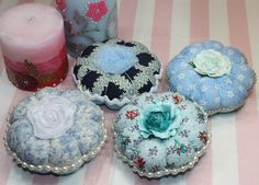 Inspired and Unscripted: Embellished Pin Cushions