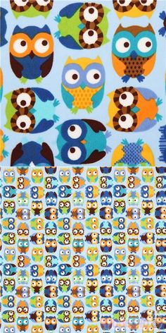 Owl Fabric, Minky Fabric, Baby Accessories, Softies, Cool Designs, Plush, Delicate, Kawaii, Blue Nails