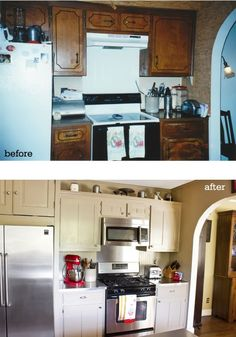 Home Sweet Home on a Budget:  Kitchen Cabinet Makeovers