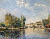 Le Loing a Moret - Alfred Sisley - www.alfredsisley.org
