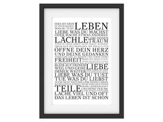 Vintage Druck Poster DIES IST DEIN LEBEN Motivation Print Typografie Kunstdruck