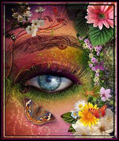 This is a very beautiful painting that portrays mother nature and what she sees with her eyes. Butterfly Eyes, Butterflies, Eye Painting, Rainbow Painting, 5d Diamond Painting, Eye Art, Paint By Number, Beautiful Eyes, Amazing Eyes