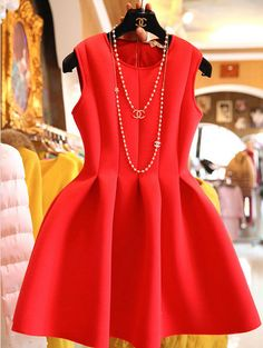 Looking to make a fashion statement? Forgo the expected little black dress and stand out in red.