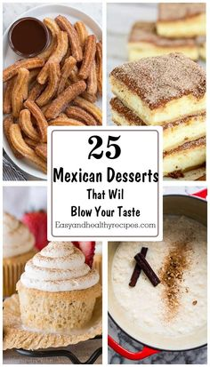 25 Mexican Desserts To Blow Your Taste Mexican Desserts, Mexican Dishes, Fun Desserts, Mexican Food Recipes, Delicious Desserts, Dessert Recipes, Hot Chocolate Brownies, Good Food, Yummy Food