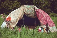 tent - now this would be cool camping! Not in some trailer!