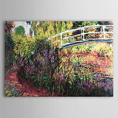 Hand-painted Oil Painting by Claude Monet with Stretched Frame – USD $ 99.99