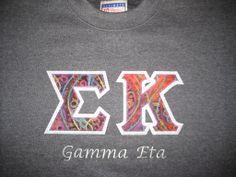 #Hanes #Crewneck #Greek #Letter #Sweatshirt #customembroidery #SigmaKappa #madetoorder